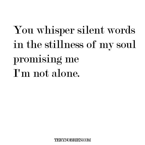 poem im not alone